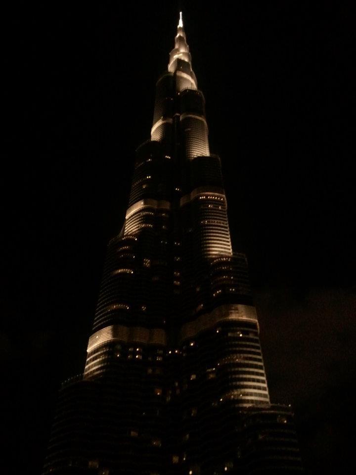 Outside the Burj Khalifa...again...